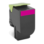 Lexmark 808H 80C8HM0 Magenta Toner Cartridge High Yield (Up to 3,000 pages)