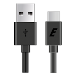 Energizer USB 2.0 Type-C to Type-A Cable 1.2m 2.4A - Black