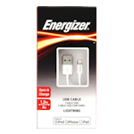 Energizer USB Lightning Cable 1.2m 2.4A - White