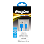 Energizer USB Lightning Cable 1.2m 2.4A - Blue