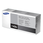 Samsung CLT-K406S Black Toner Cartridge (Up to 1,500 pages)(Part# SU120A)