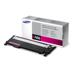 Samsung CLT-M406S Magenta Toner Cartridge (Up to 1,000 pages)(Part# SU254A)