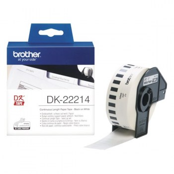 Brother DK-22214 White Continuous Paper Label Roll 12mm x 30.48m