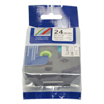 Brother TZe-251 24mm x 8m Black on White Laminated Tape (Generic compatible GTZe-251)