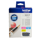 Brother LC-33173PK Cyan, Magenta & Yellow Ink Cartridge Colour Pack (Up to 550 pages each)