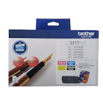 Brother LC-3317PVP Ink Cartridge Photo Value Pack (LC-3317 BK/C/M/Y + 40 Sheets 6x4 Photo Paper)